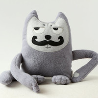Soft Toy, Moustached Cat, Cat Plush, Soft Toy, Eco Friendly Toy,