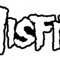 Misfits Iron-On Patch Letters Logo White
