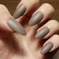 Dark Nude Nails