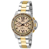 INVICTA Specialty Mens Chronograph - Two-Tone - Champagne Dial - Crown Guard
