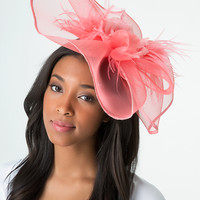 bebe Womens Flower & Feather Fascinator