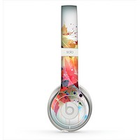 The Neon Colored Watercolor Branch Skin for the Beats by Dre Solo 2 Headphones