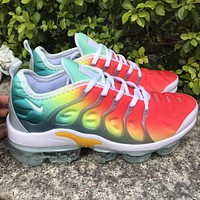 Nike Air Max Vapormax Plus TN-81 Vascular Atmosphere Pad Green Yellow Red Gradient