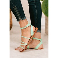 Whatever It Takes Strappy Sandals (Pistachio)