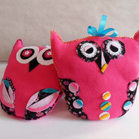 On Sale Today Lovely couple Owls Pillows, Stuffed Toy Owl, Animal Stuffed pillow, Softie Plushie Owl, I love you Valentine day gift