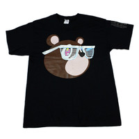 2007 Kanye West Glow in The Dark Tour Bear Shirt Mens Size Large