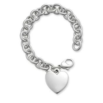 Classic Cable Bracelet with Heart | James Avery