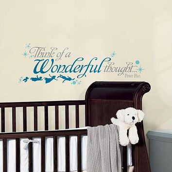 Peter Pan Wall Decals Disney Wall Stickers Wall Decor Kids Room Decor QUOTES