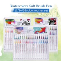 12/24/36 Colors Soft Brush For Adult Coloring Books
