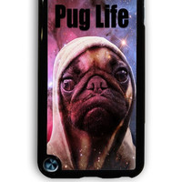 IPod 5 Case - Hard (PC) Cover with Funny Pug Life On Galaxy Plastic Case Design