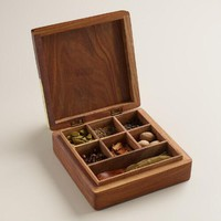 Carved Wood Indian Spice Gift Box Set