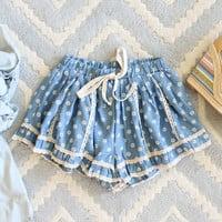 Chambray & Daisies Shorts