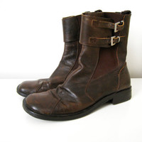 Vintage Mens Brown Leather Chelsea Boots by CutandChicVintage