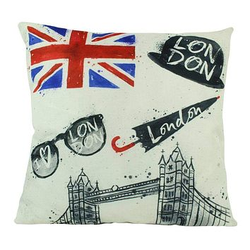 London England   Pillow Cover   British Flag   Throw Pillow   Home Decor   London Bridge   Gifts for Travelers   Unique Friend Gift