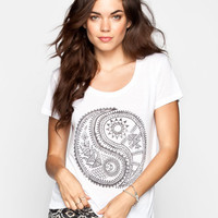 Billabong Yin Yang Life Womens Tee White  In Sizes