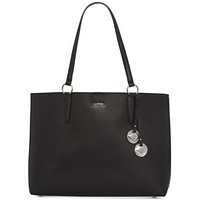 Calvin Klein Reese Mercury East/West Tote (Black/Silver) Tote Handbags$228
