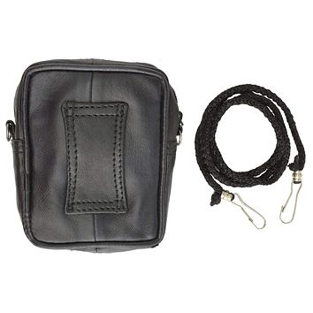 Soft Leather Small Cigarette Organizer Holder with Cellphone Pocket 122 (C)