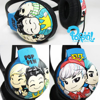 Bigbang Fanart Painted Headphone