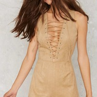 Evan Lace-Up Romper