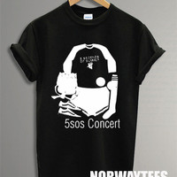 5 Seconds of Summer Shirt The 5 SOS Concert Symbol Printed on White and Black t-Shirt For Men Or Women Size TS 86