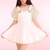 Glitters For Dinner — Made To Order - Ella White Pinafore
