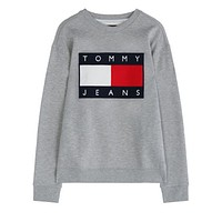 Tommy Jeans Fashion Long Sleeve Pullover Sweatshirt Top Sweater-3