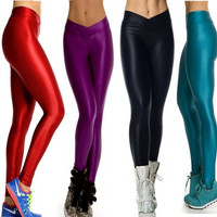 EAST KNITTING s3 New 2014 High Waist Candy Colour Leggings Women's Sports Pants Yoga Fitness Gym Leggings = 1932996868