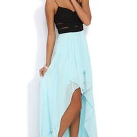 Dress with Wrapped Fabric Illusion Waist