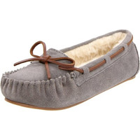 Tamarac by Slippers International Womens Molly Suede Faux Fur Lined Moccasins