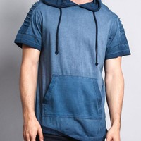 Surface Dyed Hooded T-Shirt