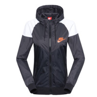 """NIKE""Fashion Hooded Zipper Cardigan Sweatshirt Jacket Coat Windbreaker Sportswear Black-white-grey"