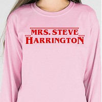 Mrs. Steve Harrington Long Sleeve Tee