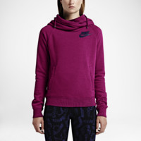 Nike Rally Funnel Neck Pullover Women's Hoodie Size Small (Pink)