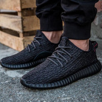 "Women Yeezy Boost ""Adidas"" Sneakers Running Sports Shoes Black"