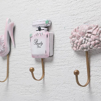 Resin Clothes Hat Bag Hanger Hook Wall Mounted Lady Shoes Perfume Bottle Purse