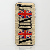 Union Jack Dictionary Art by Adidit iPhone & iPod Skin by Adidit   Society6