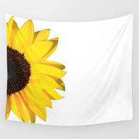 yellow & white summer Wall Tapestry by Steffi Louis Finds&art
