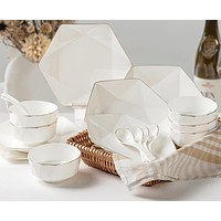 Kitchen Bowl Set  In Rich White Finish