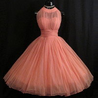 Vintage 1950 s Retro Chiffon Short Prom Dresses Real Image A-line Cheap Prom Gowns Formal Party Gowns