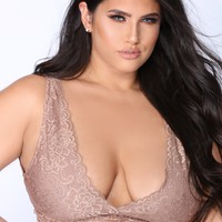 Racey Lacey Bralette - Taupe