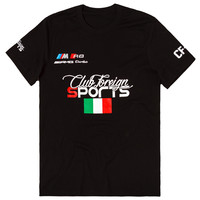 Club Foreign Sports T-Shirt Italy Series in Black