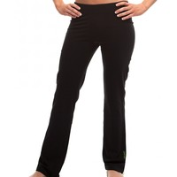 Bamboo Fitted Yoga Pant - Black - Women's