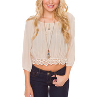 Gwen Embroidered Top - Ivory