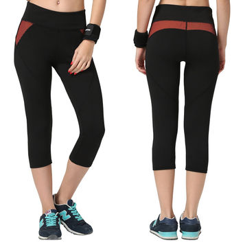 Women's Fashion High Waist Stretch Cotton Sweatpants Jogging Wearing Ladies Yoga Pants Gym Sports And Fitness Candy Color Capris Leggings = 4747034116