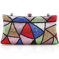 ROMWE   All-over Colorful Crystal Delicate Clutch, The Latest Street Fashion