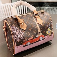 LV Louis Vuitton New fashion monogram leather pillow shape shoulder bag women handbag crossbody bag
