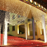 6M x 3M 600 LED Home Outdoor Holiday Christmas Decorative Wedding xmas String Fairy lights Curtain Garlands Strip Party Lights