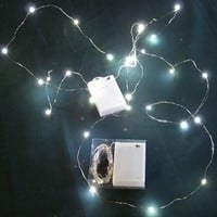 Micro LED White Lights on Ultra Thin Wire- Battery- 2 Sets-30 lights- Fairy-Underwater
