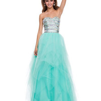 PRIMA Glitz GZ1511 Banded Beaded Prom Dress