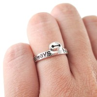 Big Hero 6 Baymax I'll Always Be With You Quote Ring   DOTOLY